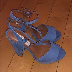 Blue Steve Madden chunky heels